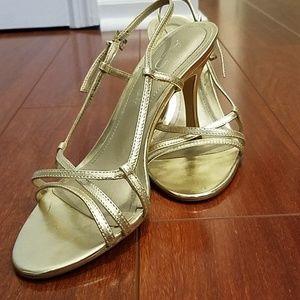Gold Aldo strappy heels